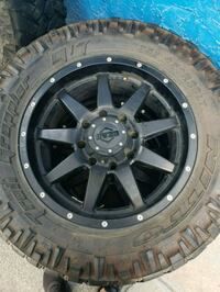 black multi-spoke car wheel with tire New Port Richey, 34652