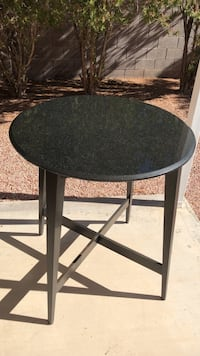 Round granite table