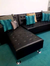 Adjustable Sectional: reversible and adjustable to lay flat. Houston, 77077