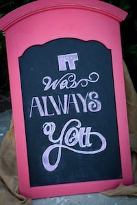 Chalk Board with Greeting