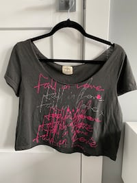 Fall in love graphic crop top from American Eagle