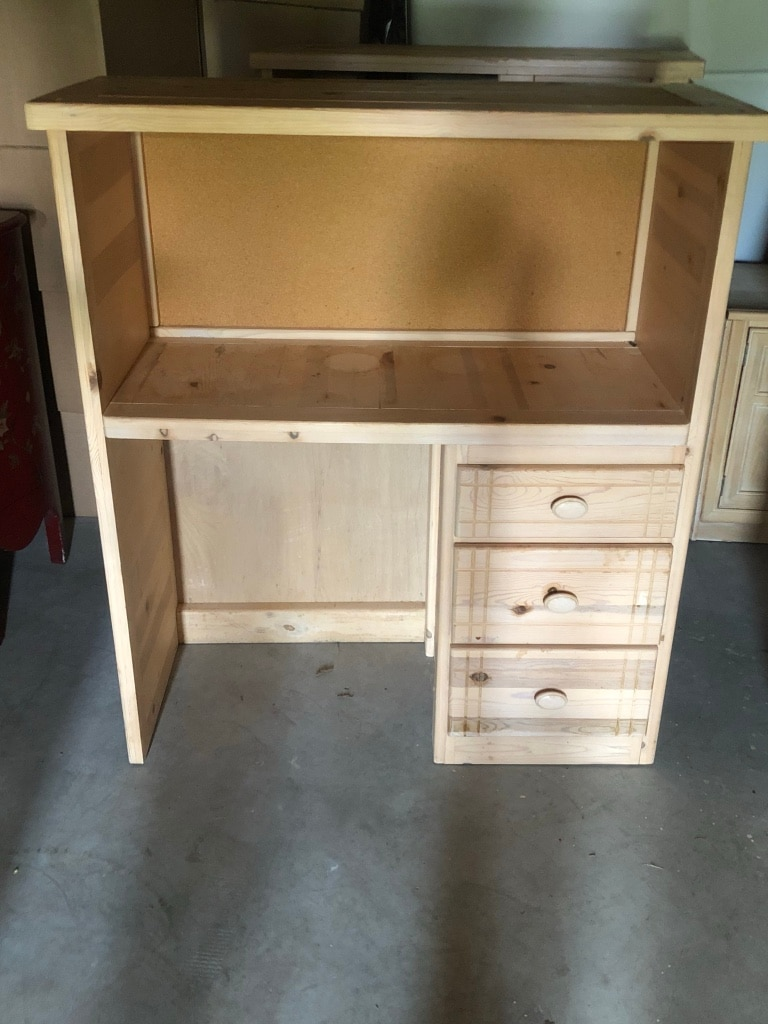used light wooden desk and shelving unit with drawer storage for rh tr letgo com