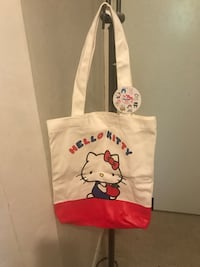 sac cabas portrait Hello Kitty blanc et rouge La Courneuve, 93120