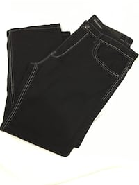 black denim straight cut jeans Stafford, 22556