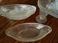 Set of 4 clear cut glass bowls and sundae cups Rialto, 92376