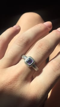 REAL Silver and Amethyst Ring Cave Creek, 85331