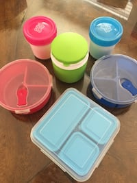 Kids lunch container, food storage 10 piece lot