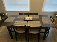 Bjursta Dining table and six chairs
