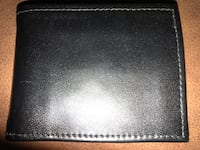 Men's black leather wallet Palmyra, 08065