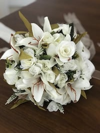 Bridal wedding white flowers sets Chantilly, 20166