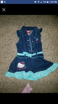 toddler's blue and black dress