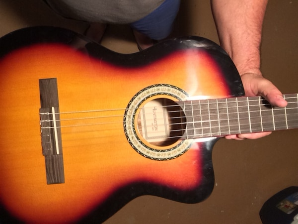 Used Red And Black Acoustic Guitar Eletrica For Sale In Elizabeth