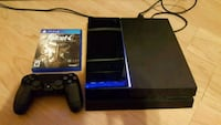 PS4 500gb with controller and a game  Brampton, L6Y 4T3