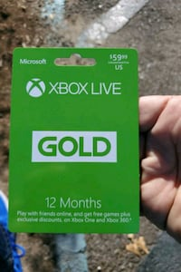Xbox live card for 12 months