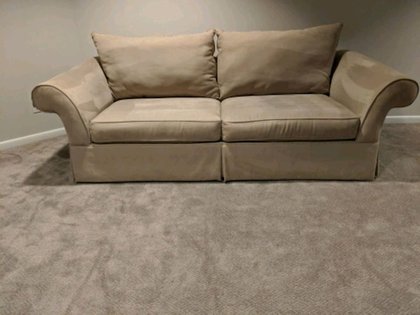 Microfiber sofa - light grey