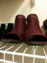 pair of red suede boots Hutchins, 75141