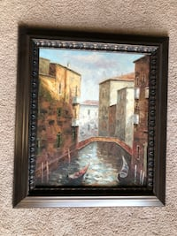 Oil painting with frame San Jose, 95123