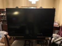 black flat screen TV with remote Chesapeake, 23323