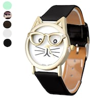 Montres femme Women Watches Cute Glasses Cat  Ottawa