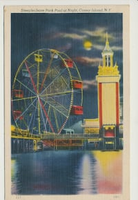 Steeplechase Park, Coney Island vintage postcard 1946 New York, 11215