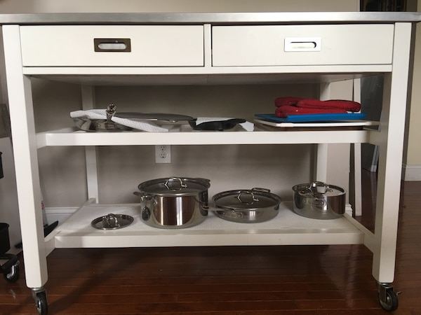 Crate and Barrel Sheridan Kitchen Island Cart