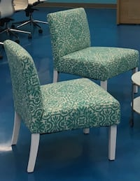 white and brown floral padded chair Woodbridge, 22191