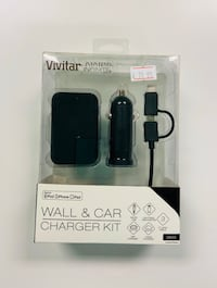 Wall and car charger kit