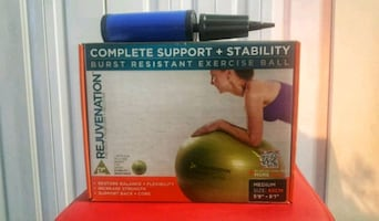 Exercise ball 65cm burst resistance with support weight