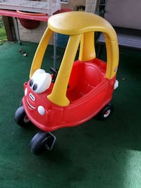 red and yellow Little Tikes cozy coupe San Mateo, 94403