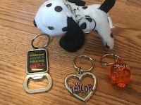Assorted keychains 41 km