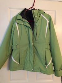 Green and white zip-up jacket woman's small Billerica, 01862