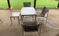 3 chairs with big table and side table