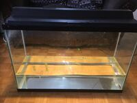 Black framed clear glass fish tank 60 gallons with filter  Toronto, M9V 0A1