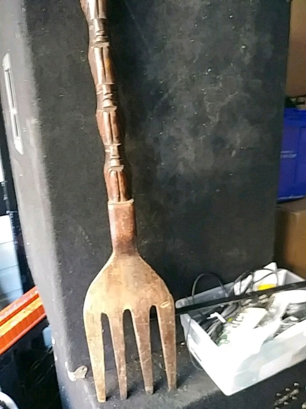 Vintage Giant Spoon and fork for decorations orig