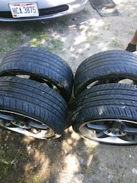 two black car wheel with tires Cleveland, 44109
