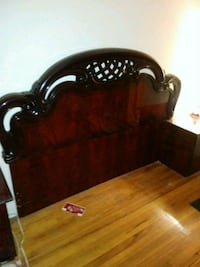 brown wooden bed headboard and footboard Queens, 11434