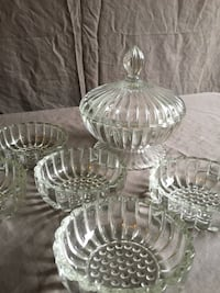 Glass Candy Dish with (5) bowls Houston, 77007