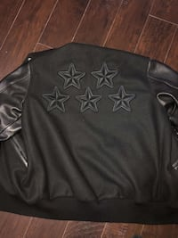 Black and gray leather ovo x roots jacket Vaughan, L4H