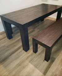 Rustic World Market dining table with 2 benches 2253 mi