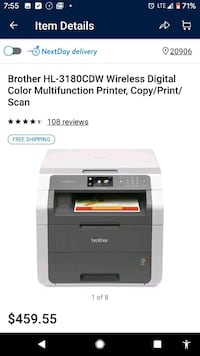 Brother HL-3180CDW Wireless Digital Color Printer Catonsville, 21228