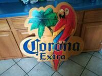 Corona beer sign.  Very cool addition to the man c Madill, 73446