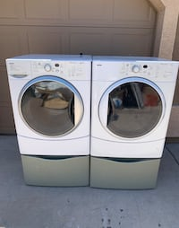 Kenmore Washer and Dryer Matching Set With Pedestals