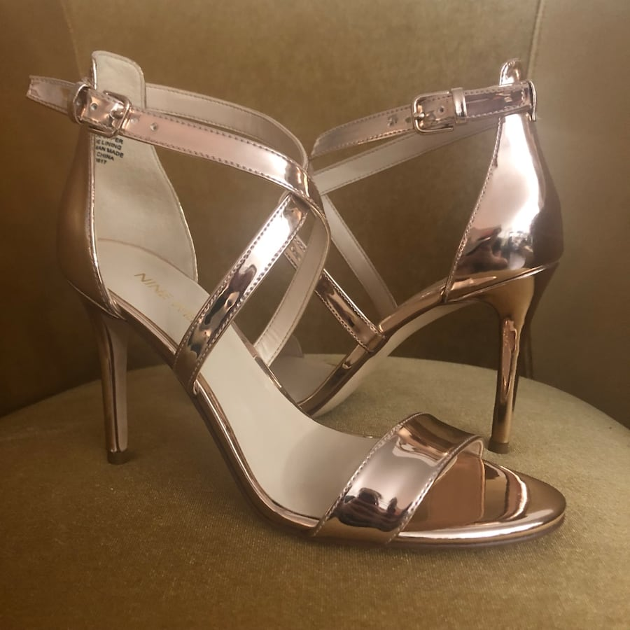 Nine West Rose Gold Mydebut Open Toe Sandals - Size 6 1/2- BRAND NEW