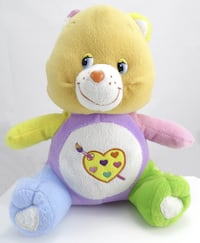 "CARE BEARS Multicolor Work of Heart Bear Teddy Plush 11.5"" MONTREAL"