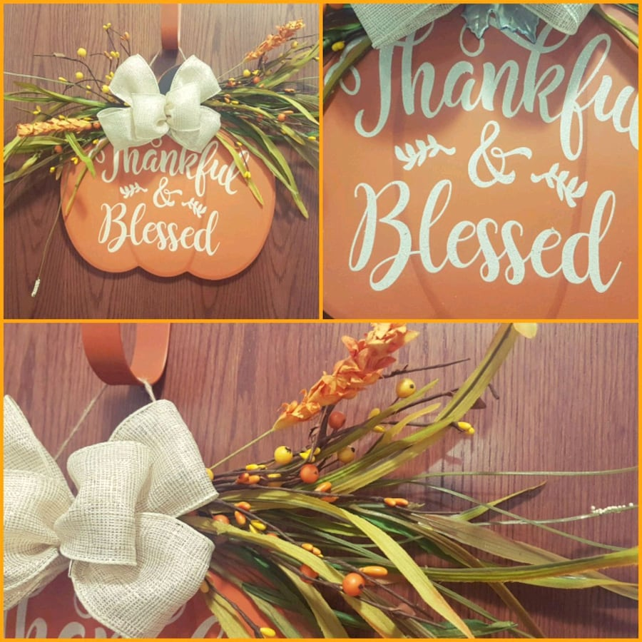 Thankful and Blessed sign perfect to add to your Fall Decor