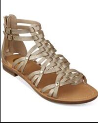 New G by guess-Gold Gladiator Sandal 9.5 Bowie, 21401