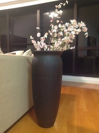 black and white floral table lamp 13089 km