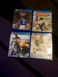 four assorted PS4 game cases Brampton, L6W 2B5