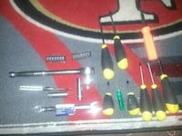 Assorted tools different sizes