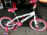 white and pink bicycle with training wheels Pasadena, 21122